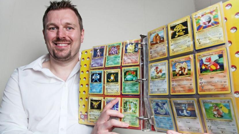 34-jarige vader die Pokémon helemaal niet leuk vindt, blijkt kaartcollectie van 40.000 euro te hebben waar hij niets van wist