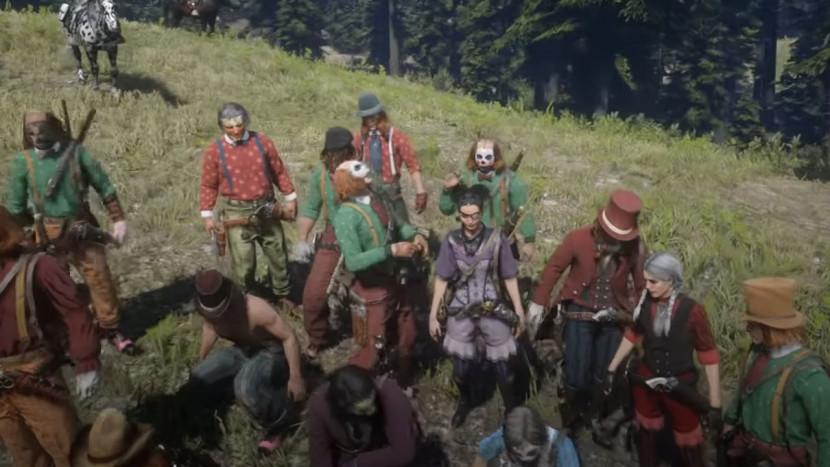 Red Dead Online spelers verkleden zich massaal als clown om te protesteren tegen Rockstar