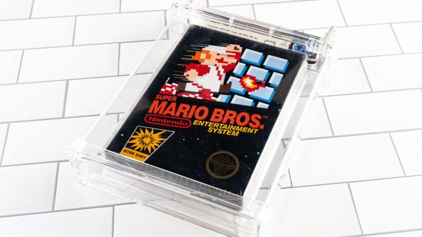140.000 dollar betaald voor sealed exemplaar van Super Mario Bros.