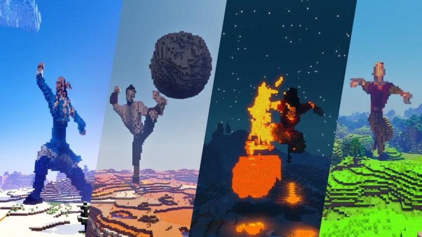 Intro van Avatar: The Last Airbender met stop motion nagemaakt in Minecraft