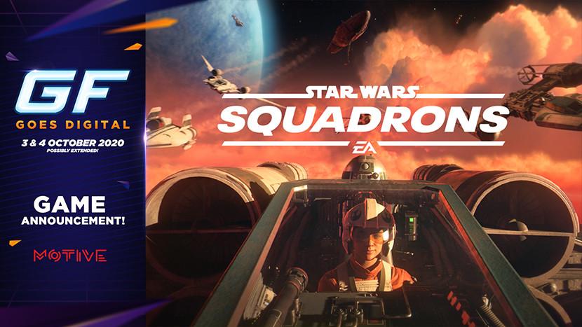 Vlieg de ruimte in met Star Wars: Squadrons tijdens GameForce Goes Digital