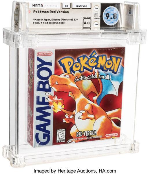 Nieuwe records: Pokémon Red game verkocht voor $84.000, Mario game voor $156.000