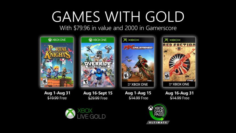 Games with Gold voor augustus bekend