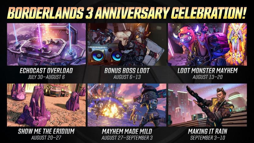 Borderlands 3 viert zes weken lang eerste verjaardag