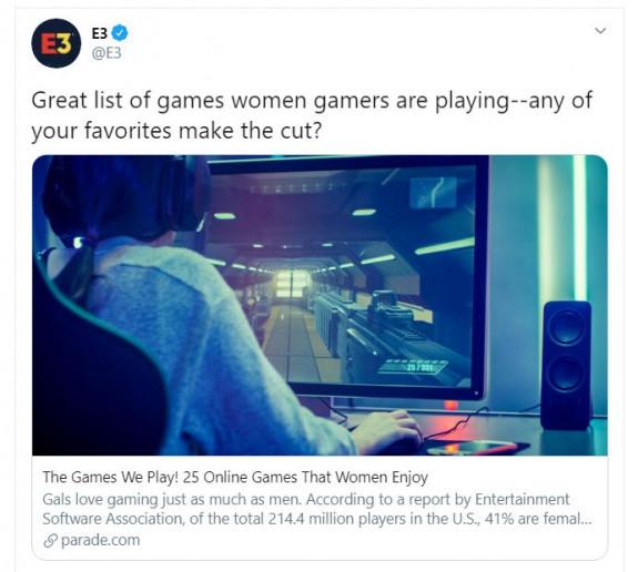 E3 verontschuldigt zich na seksistische tweet