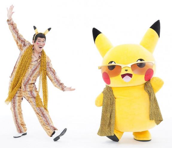 Pikachu en Pen-Pineapple-Apple-Pen  zanger maken samen nieuw liedje